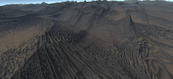 Random weird eroded landscape #2
